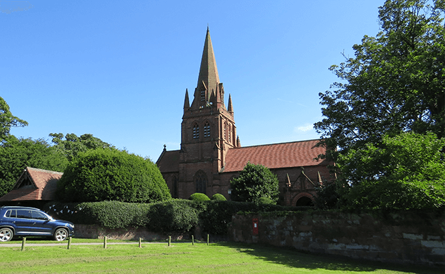 >Thurstaston Church, near Heswall